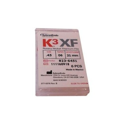 K3 XF Ni-Ti Files - 17 mm, 6/Pkg