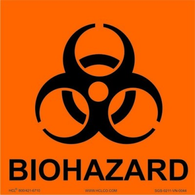Label 1X1 (100) Biohazard