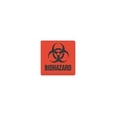 Label Biohazard Warning (100)