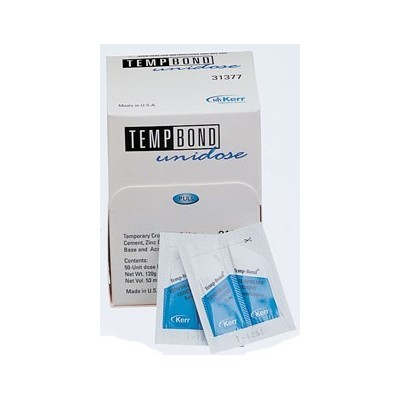 TempBond Temporary Crown and Bridge Cement – Original Unidose (2.4 g), 50/Pkg with Mixing Pad