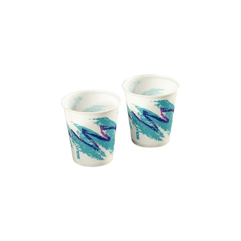 Waxed Paper Cups 5oz Jazz Pattern 1000 Pkg Newark