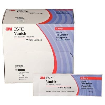 3M Vanish Varnish Trl Pk 5% Sod Fl .5mL Wt w/ TCP 50/Pk