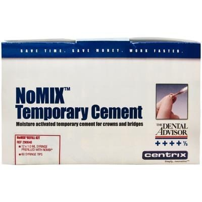 NoMix Moisture-Activated Temporary Cement for Crowns and Bridges