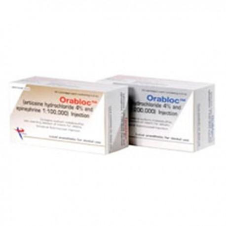 Orabloc Articaine HCI 4% Epinephrine 1:100,000 50/Bx