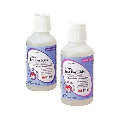 Just for Kids 0.4% Stannous Fluoride Gel, 4.3 oz Bottle - 3M