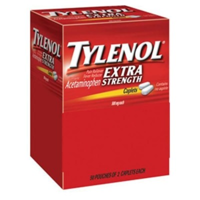 Tylenol Extra Strength 500mg 50ct (pk of 2)